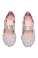 Ballet pumps - Light grey/Spotted - Kids | H&M CN 1